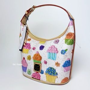 Dooney & Bourke Bucket Bag with Cupcake print